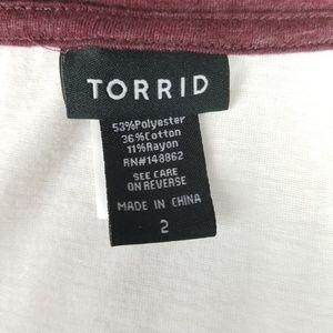 torrid Tops - Torrid Love Blooms Here Cold Shoulder Raglan Tee